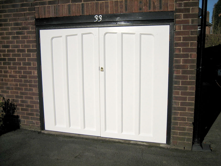 The Other Side Of Garage Doors For Garages : Side hinged steel garage doors the door team